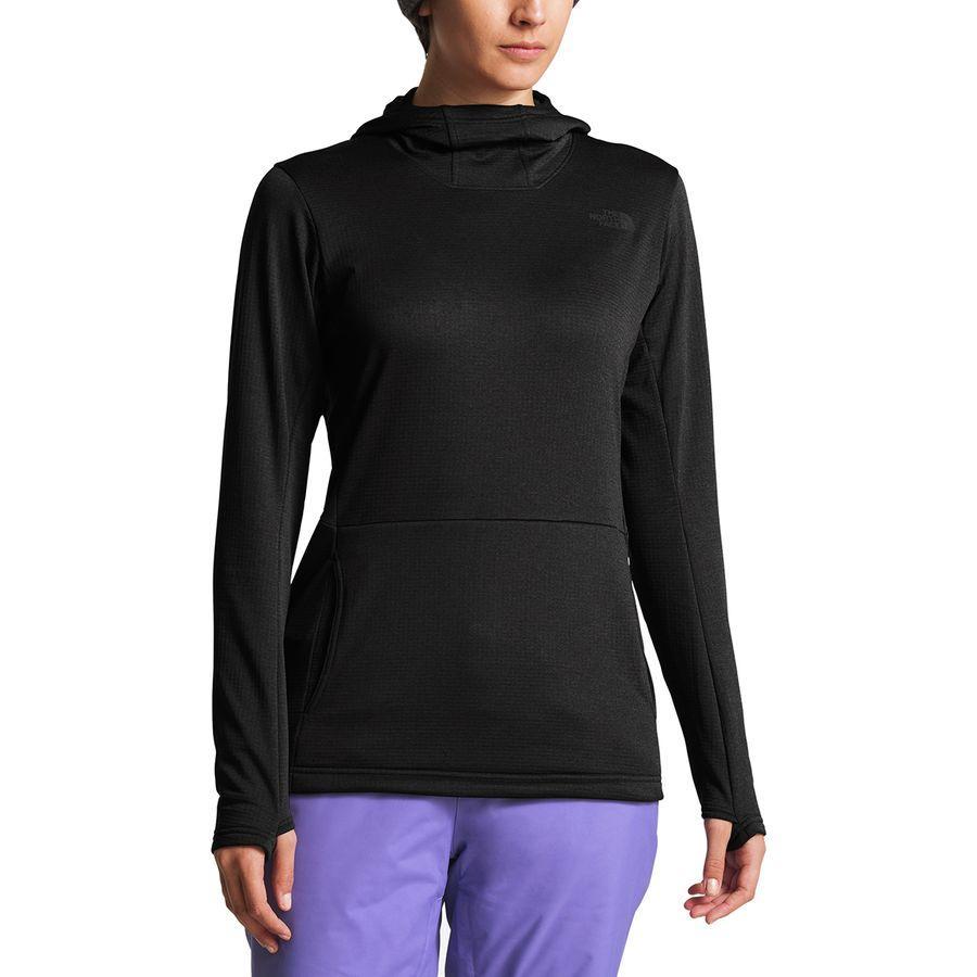 (取寄)ノースフェイス レディース Kelkiney フリース プルオーバー The North Face Women Kelkiney Fleece Pullover Tnf Black Heather