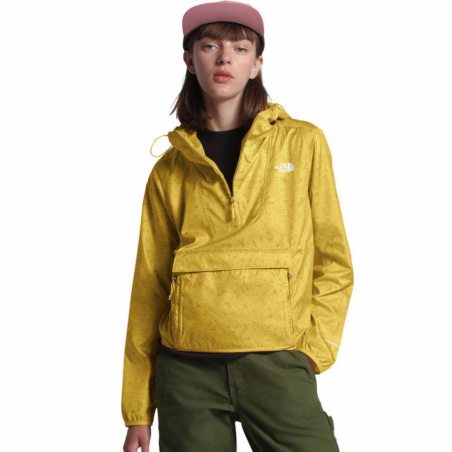 【クーポンで最大2000円OFF】(取寄)ノースフェイス レディース ペインテッド Fanorak ジャケット The North Face Women Printed Fanorak Jacket Bamboo Yellow Floral Block Print