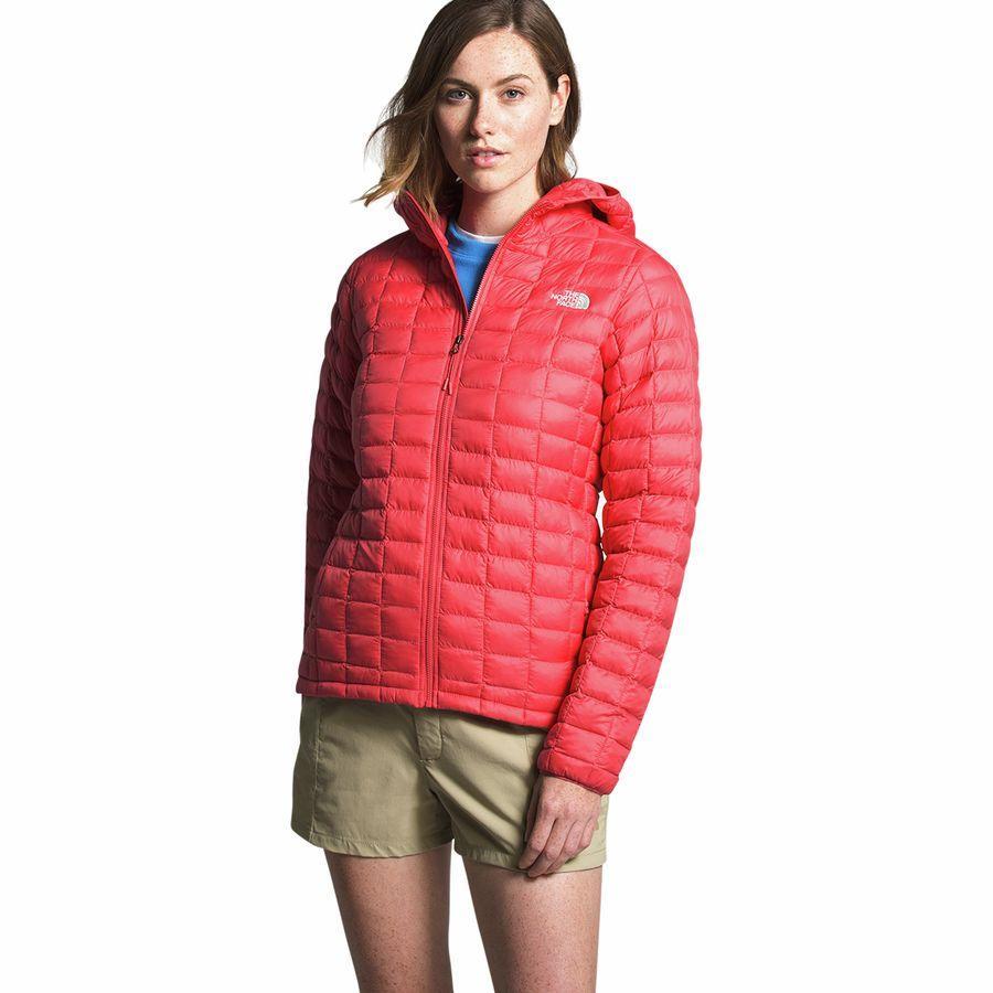 【ハイキング 登山 マウンテン アウトドア】【ウェア アウター】【山ガール ファッション ブランド】【大きいサイズ ビッグサイズ】 (取寄)ノースフェイス レディース サーモボール エコ フーデッド インサレーテッド ジャケット The North Face Women Thermoball Eco Hooded Insulated Jacket Cayenne Red Matte
