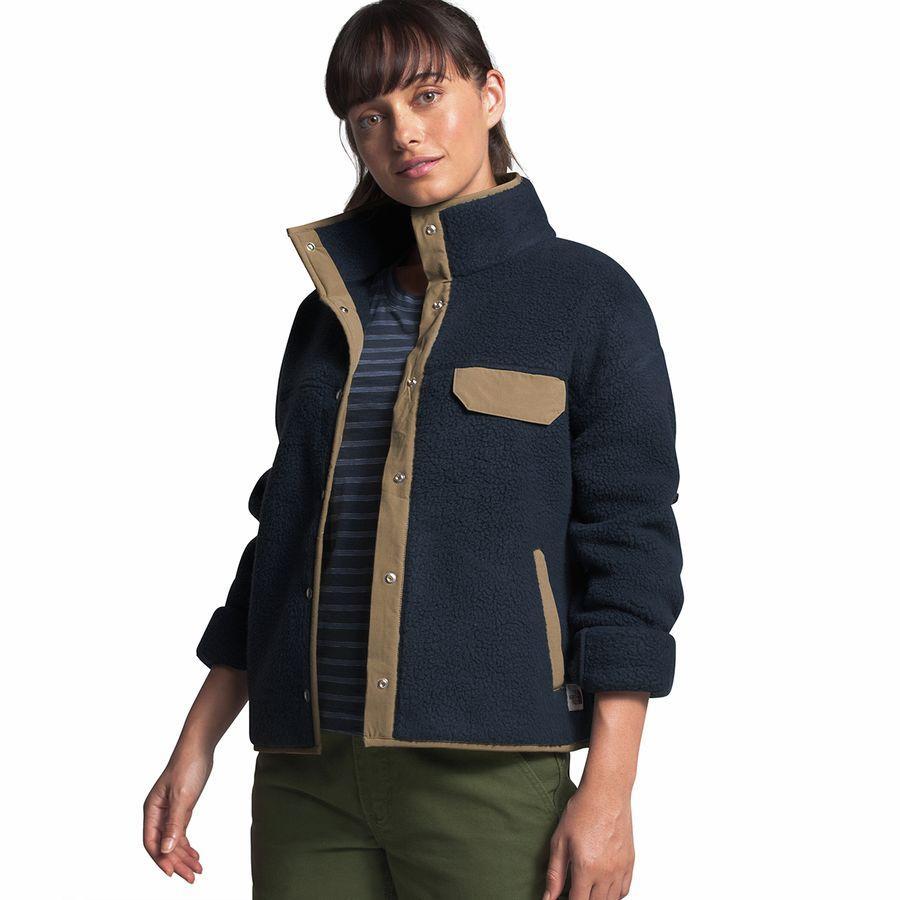 【クーポンで最大2000円OFF】(取寄)ノースフェイス レディース クラグモント フリース ジャケット The North Face Women Cragmont Fleece Jacket Urban Navy/Kelp Tan