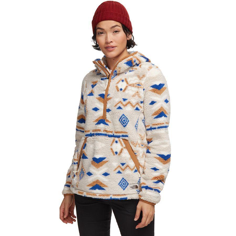 (取寄)ノースフェイス レディース Campshire 2.0フーデッド プルオーバー フリース ジャケット The North Face Women Campshire 2.0 Hooded Pullover Fleece Jacket Tnf Blue California Geo Print