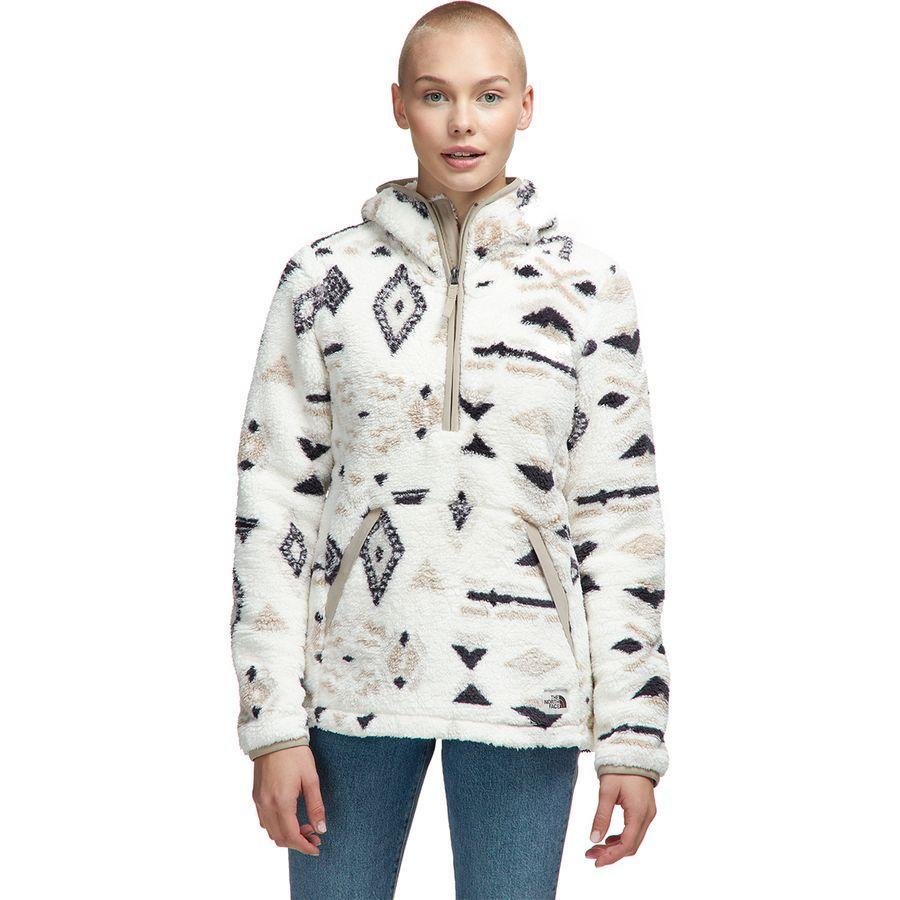 (取寄)ノースフェイス レディース Campshire 2.0フーデッド プルオーバー フリース ジャケット The North Face Women Campshire 2.0 Hooded Pullover Fleece Jacket Vintage White California Geo Print