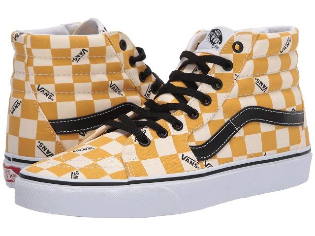 (取寄)Vans(バンズ) スニーカー スケート ハイ ユニセックス メンズ レディース Vans Unisex SK8 Hi (Big Check) Yolk Yellow/True White