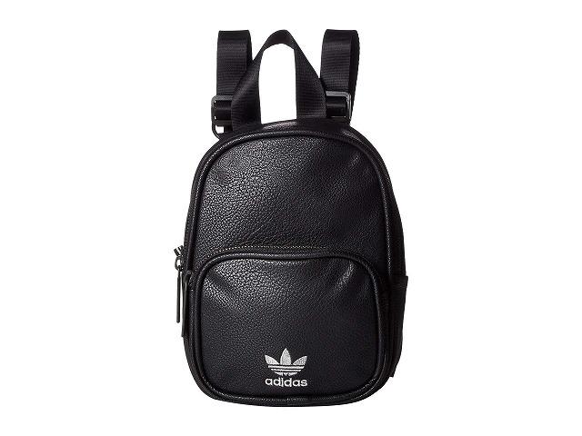 【エントリーでポイント5倍】(取寄)アディダス オリジナルス レディース オリジナル ミニ PU バックパック adidas originals Women Originals Mini PU Backpack Black/Silver