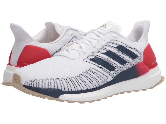 【クーポンで最大2000円OFF】(取寄)アディダス メンズ ソーラー ブースト 19 ランニングシューズ adidas Men's Running Solar Boost 19 Footwear White/Tech Indigo/Scarlet