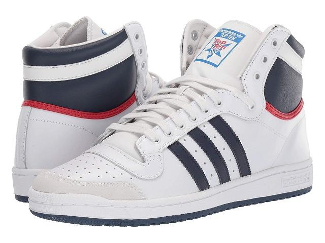 (取寄)アディダス オリジナルス メンズ テン ハイ トップ adidas originals Men's Ten Hi Top Neo White/New Navy/Collegiate Red