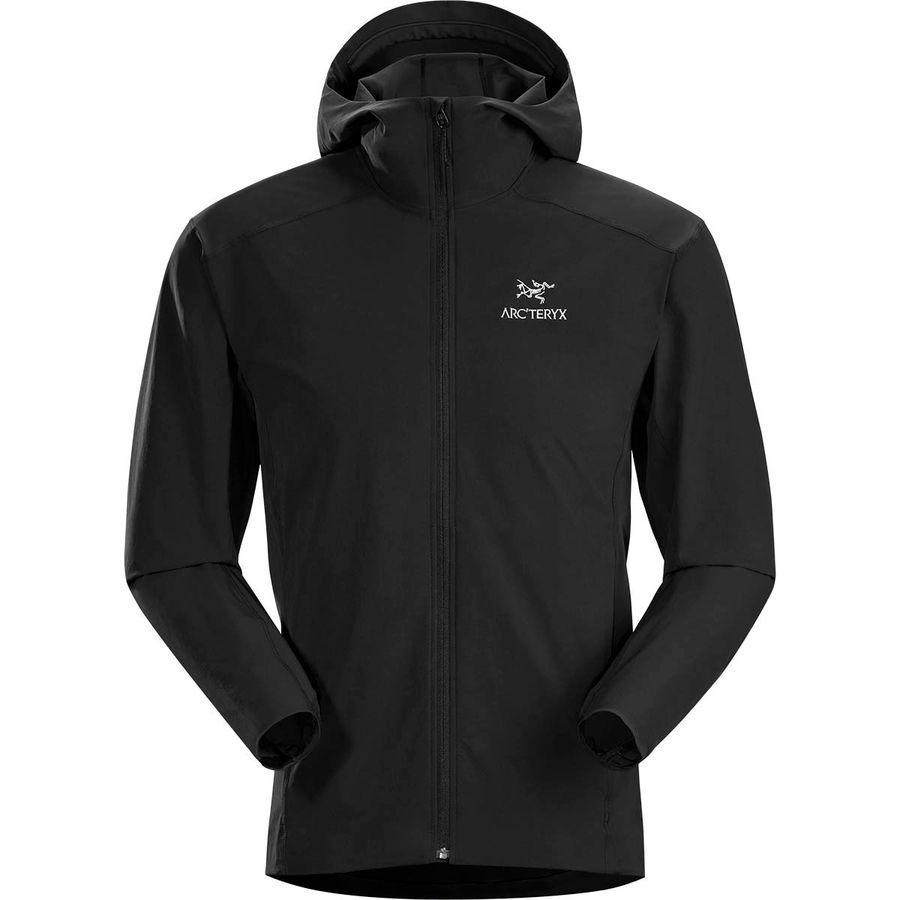【ハイキング 登山 マウンテン アウトドア】【ウェア アウター】【大きいサイズ ビッグサイズ】 (取寄)アークテリクス メンズ ガマー SL フーデッド ジャケット Arc'teryx Men's Gamma SL Hooded Jacket Black