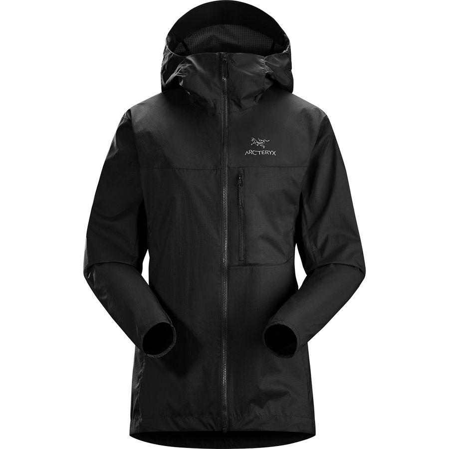 【ハイキング 登山 マウンテン アウトドア】【ウェア アウター】【山ガール ファッション ブランド】 (取寄)アークテリクス レディース スカーミッシュ フーデッド ジャケット Arc'teryx Women Squamish Hooded Jacket Black