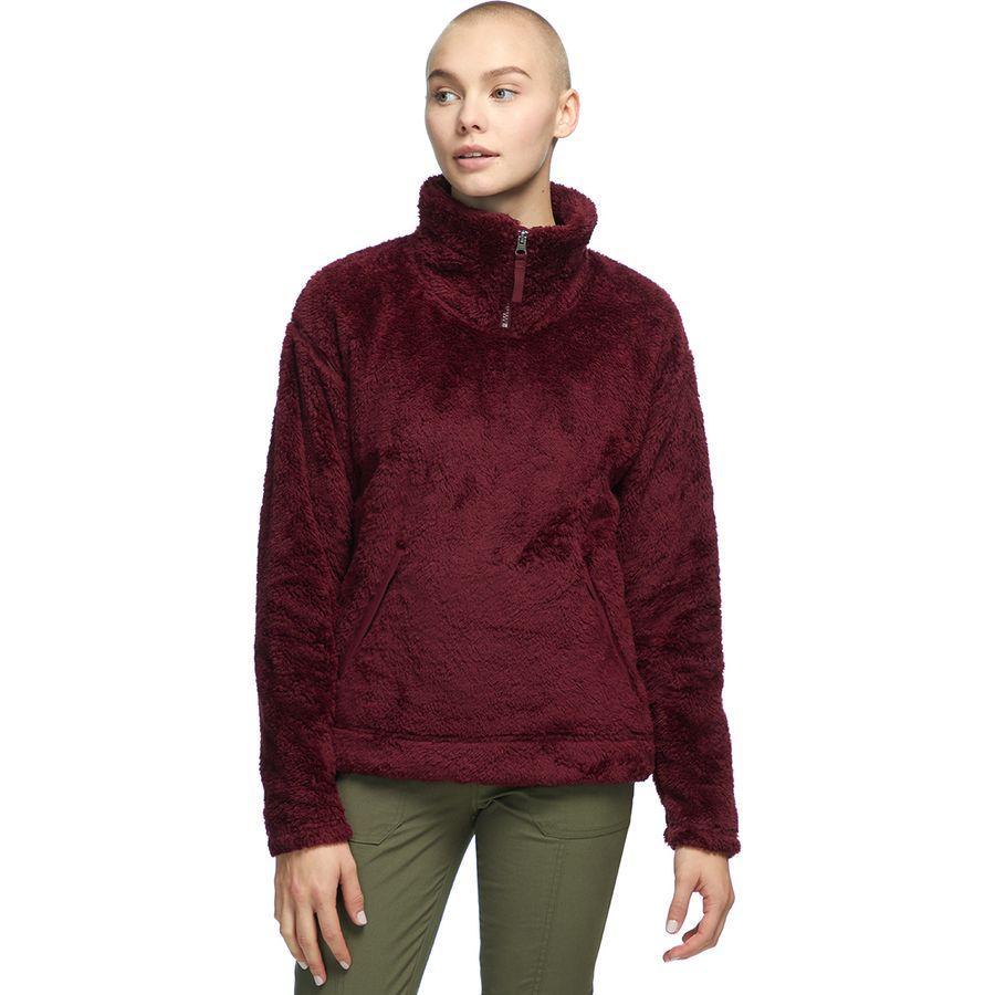 (取寄)ノースフェイス レディース ファーリー フリース プルオーバー The North Face Women Furry Fleece Pullover Deep Garnet Red