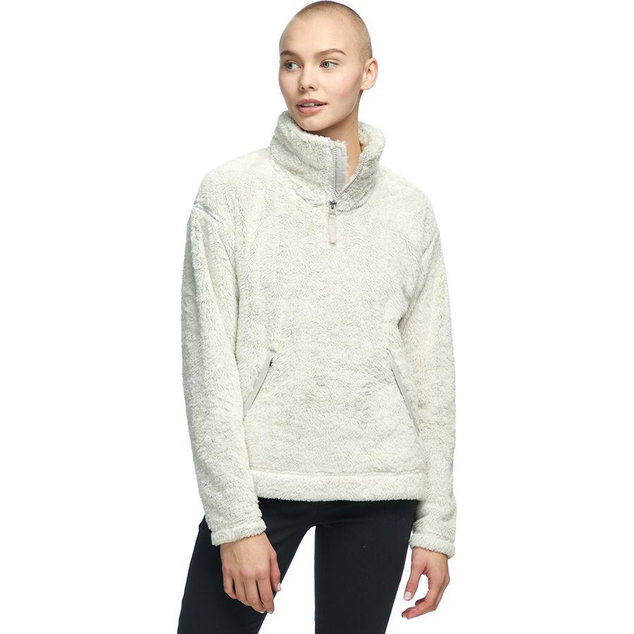 【クーポンで最大2000円OFF】(取寄)ノースフェイス レディース ファーリー フリース プルオーバー The North Face Women Furry Fleece Pullover Vintage 白い/Dove グレー