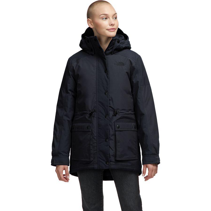 【ハイキング 登山 マウンテン アウトドア】【ウェア アウター】【山ガール ファッション ブランド】【大きいサイズ ビッグサイズ】 (取寄)ノースフェイス レディース レイン オン ダウン パーカー The North Face Women Reign On Down Parka Tnf Black