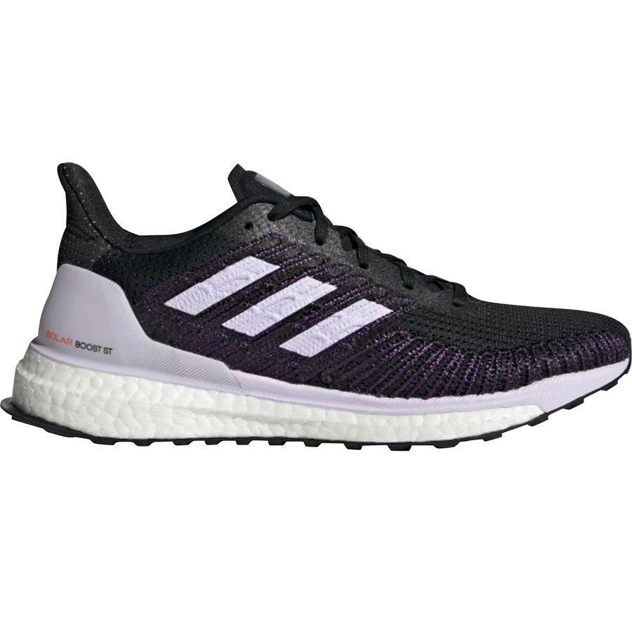 【クーポンで最大2000円OFF】(取寄)アディダス レディース ソーラー ブースト St 19 ランニング シューズ Adidas Women Solar Boost ST 19 Running Shoe Running Shoes Core Black/Purple Tint/Solar Red