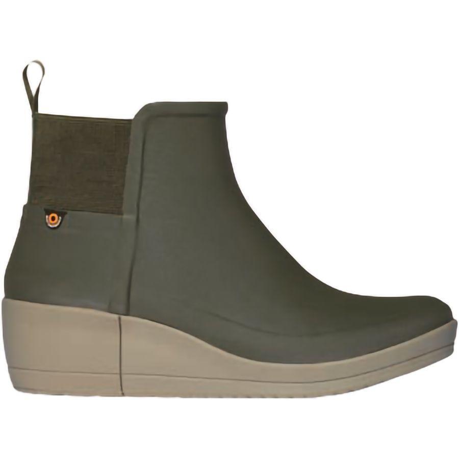 (取寄)ボグス レディース ビスタ ウェッジ ブーツ Bogs Women Vista Wedge Boot Olive
