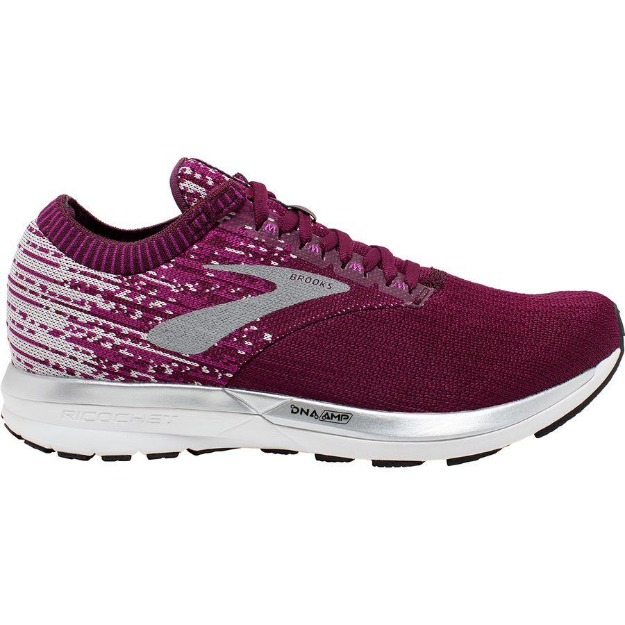 【クーポンで最大2000円OFF】(取寄)ブルックス レディース リコシェ ランニング シューズ Brooks Women Ricochet Running Shoe Running Shoes Fig/Wild Aster/Grey