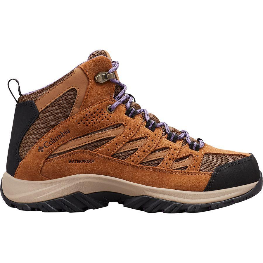 【クーポンで最大2000円OFF】(取寄)コロンビア レディース クレストウッド ミッド ハイキング ブーツ Columbia Women Crestwood Mid Hiking Boot Dark Truffle/Plum Purple