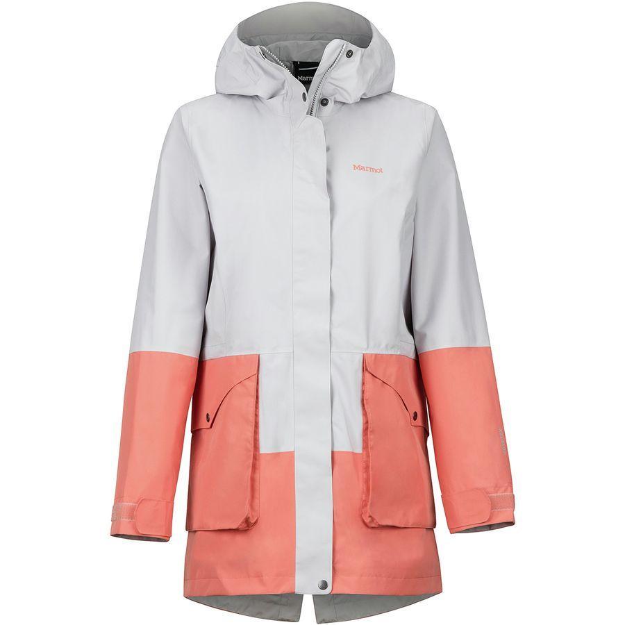 【エントリーでポイント5倍】(取寄)マーモット レディース ウェンド ジャケット Marmot Women Wend Jacket Platinum/Coral Pink