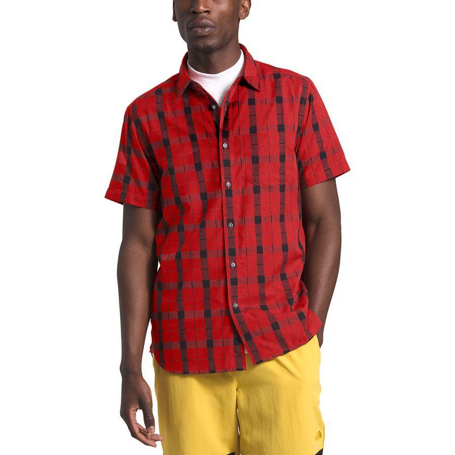 (取寄)ノースフェイス メンズ ハメット ショートスリーブ シャツ The North Face Men's Hammetts Short-Sleeve Shirt Pompeian Red Hemlock Plaid