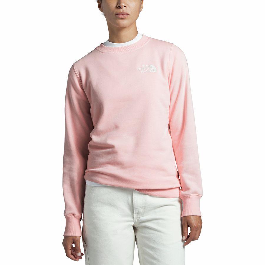 (取寄)ノースフェイス レディース パークス スライトリー クロップド クルー トレーナー The North Face Women Parks Slightly Cropped Crew Sweatshirt Impatiens Pink