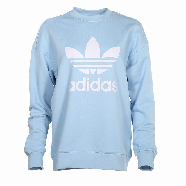 (取寄)アディダス オリジナルス レディース トレフォイル クルー  トレーナー adidas originals Women adidas Originals Trefoil Crew Sweatshirt Clear Sky/White
