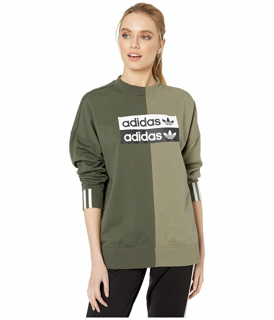 (取寄)アディダス オリジナルス レディース RYV トレーナー adidas originals Women adidas Originals RYV Sweatshirt Shadow Green/Legacy Green