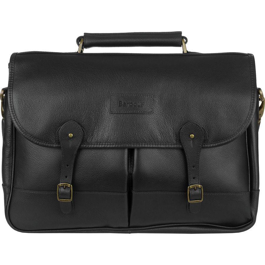 【エントリーでポイント5倍】(取寄)バブアー ユニセックス レザー ブリーフケース Barbour Men's Leather Briefcase Black