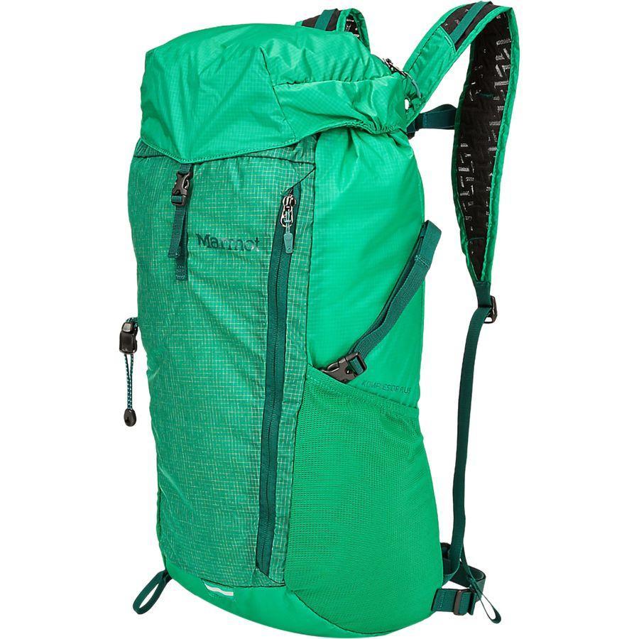 【クーポンで最大2000円OFF】(取寄)マーモット ユニセックス コンプレッサー プラス 20L バックパック Marmot Men's Kompressor Plus 20L Backpack Verde/Botanical Garden