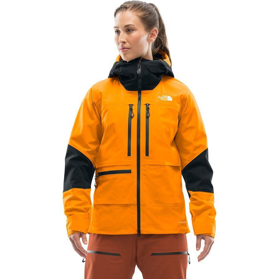 【クーポンで最大2000円OFF】(取寄)ノースフェイス レディース サミット L5 ジャケット The North Face Women Summit L5 Jacket Knockout Orange/Tnf Black