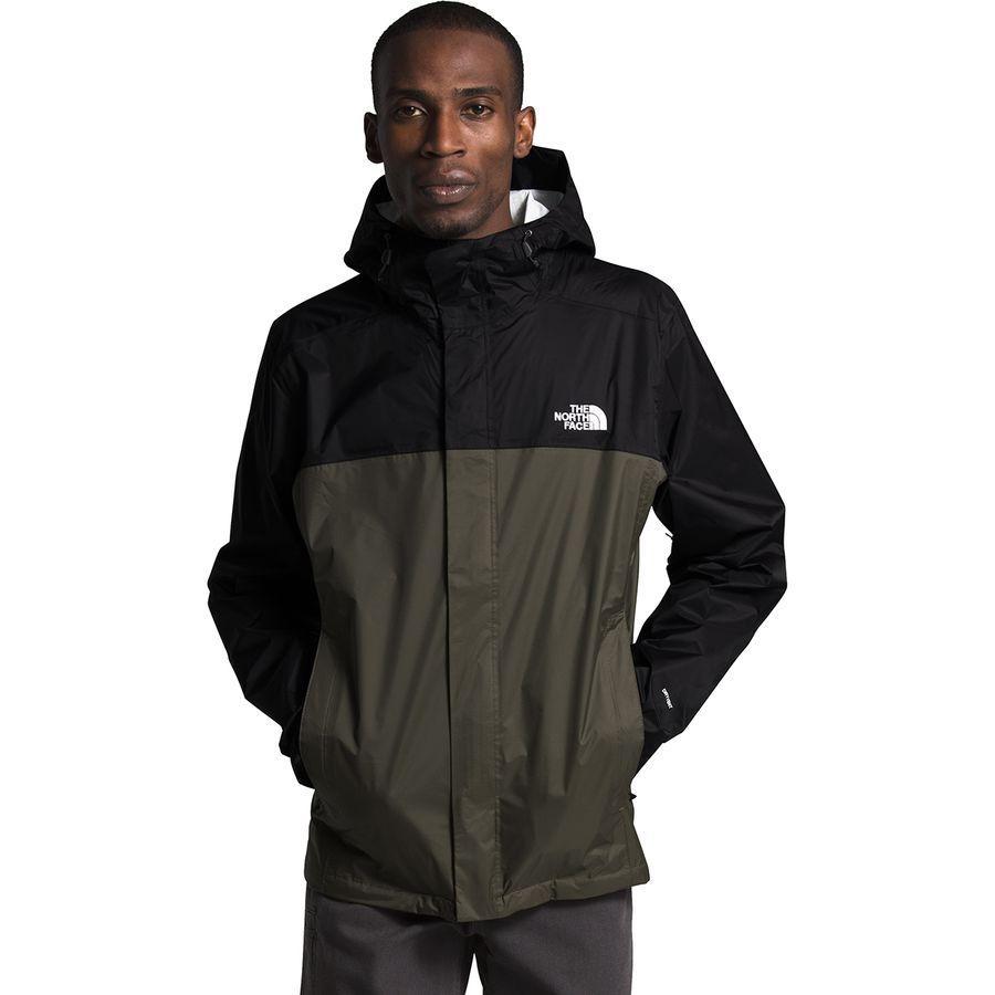 【クーポンで最大2000円OFF】(取寄)ノースフェイス メンズ ベンチャー 2 フーデッド ジャケット The North Face Men's Venture 2 Hooded Jacket TNF Black/New Taupe Green