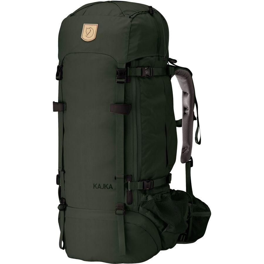 (取寄) フェールラーベン ユニセックス カイカ 75L バックパック Fjallraven Men's Kajka 75L Backpack Forest Green