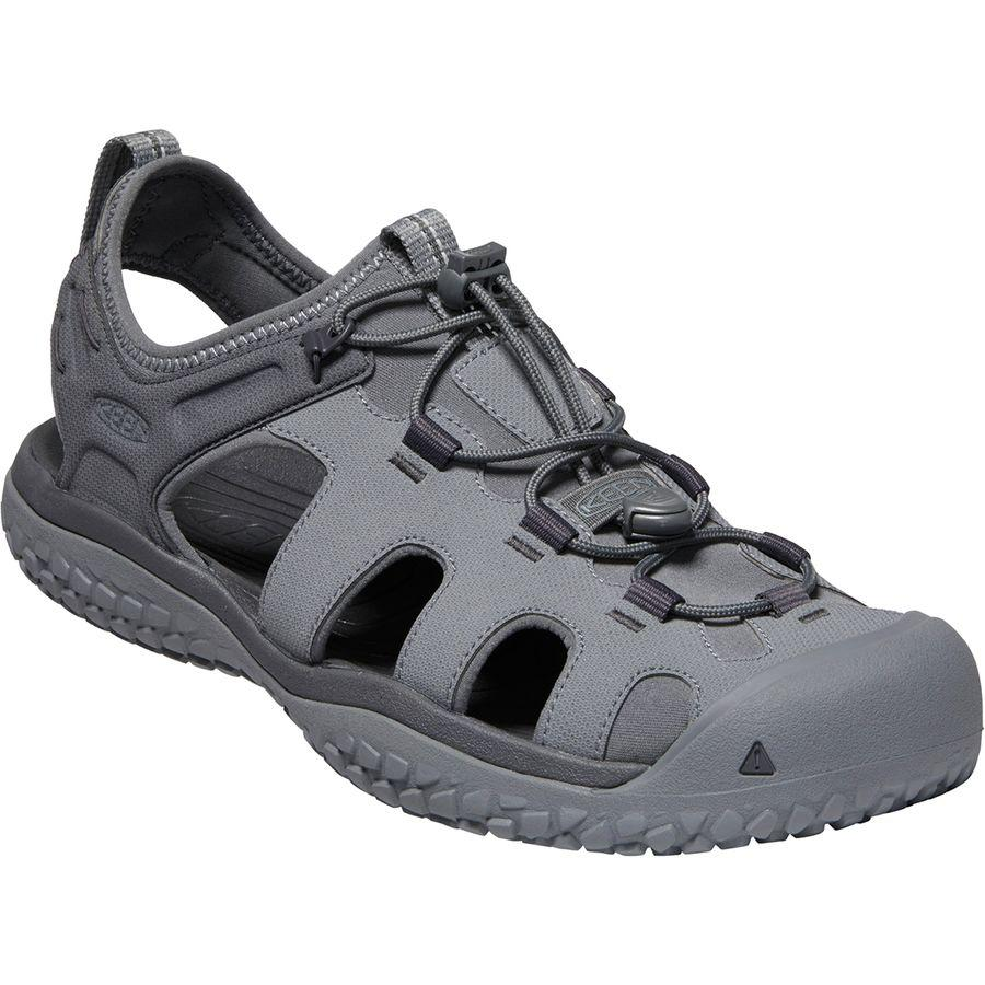 (取寄)キーン メンズ SOLR サンダル KEEN Men's SOLR Sandal Steel Grey/Magnet