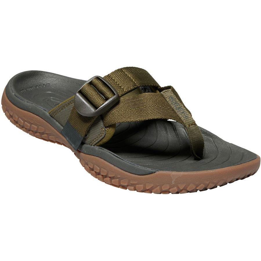(取寄)キーン メンズ SOLRトー ポスト サンダル KEEN Men's SOLR Toe Post Sandal Dark Olive