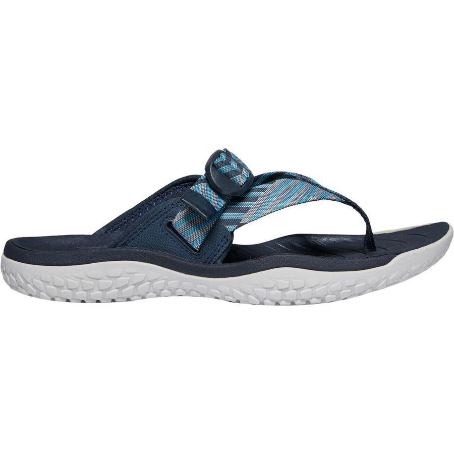 (取寄)キーン レディース SOLRトー ポスト サンダル KEEN Women SOLR Toe Post Sandal Navy/Blue Mist