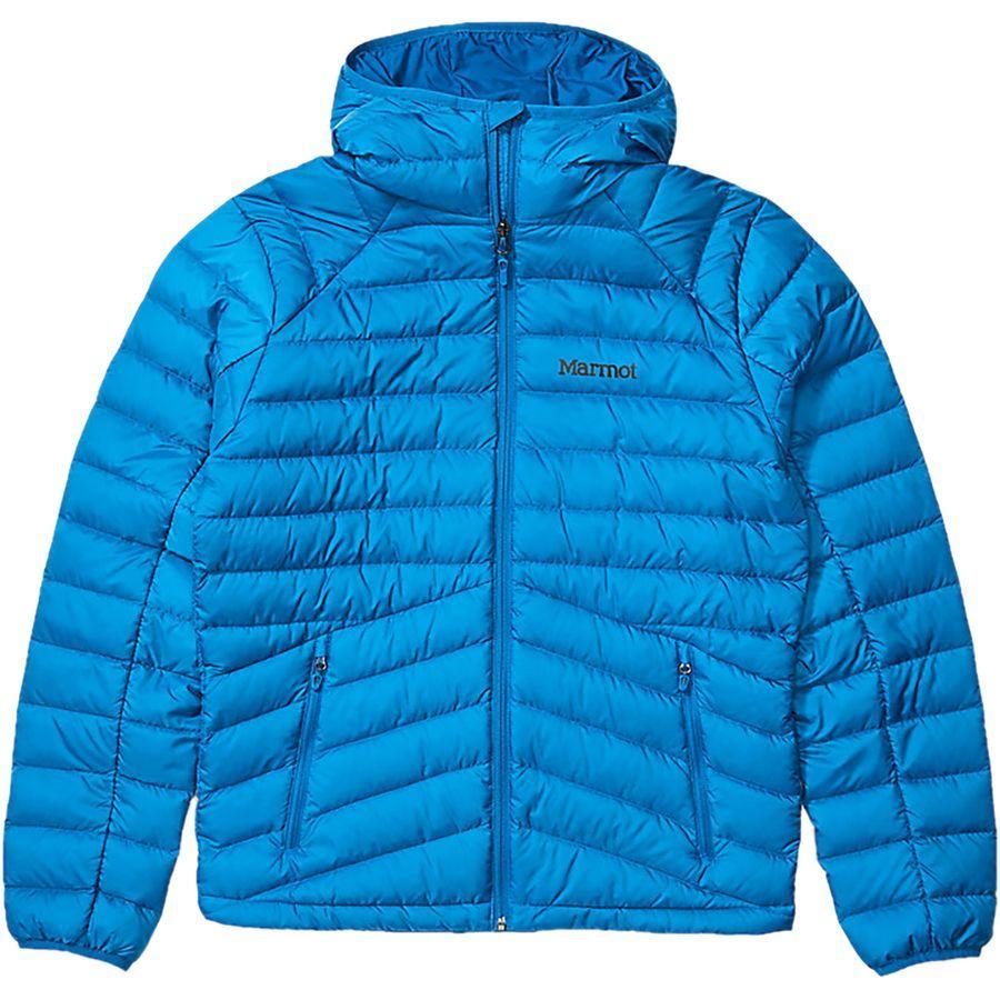 (取寄)マーモット メンズ ハイランダー ダウン フーデッド ジャケット Marmot Men's Highlander Down Hooded Jacket Classic Blue