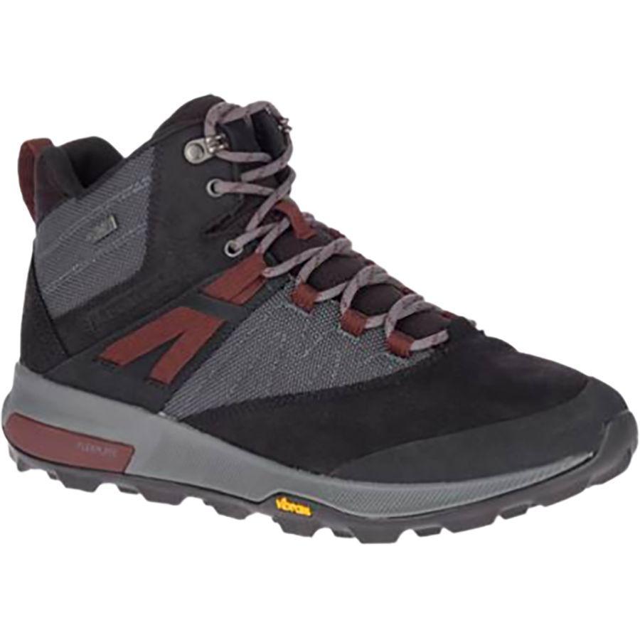 (取寄)メレル メンズ ザイオン ミッド WP ブーツ Merrell Men's Zion Mid WP Boot Black