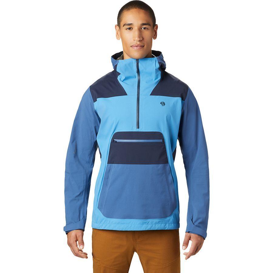 (取寄)マウンテンハードウェア メンズ エクスポージャー/ 2 Gore-Texパックライト ストレッチ アノラック Mountain Hardwear Men's Exposure/2 Gore-Tex Paclite Stretch Anorak Deep Lake
