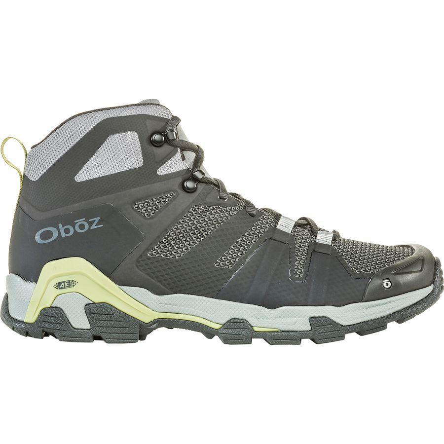 (取寄)オボズ メンズ アリーテ ミッド ハイキング ブーツ Oboz Men's Arete Mid Hiking Boot Charcoal/Woodbine Green