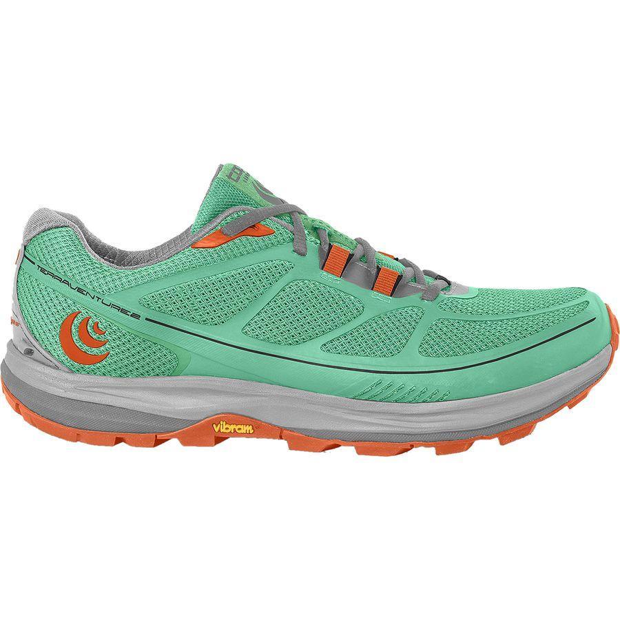 (取寄)トポアスレチック レディース Terraventure 2 トレイル ランニング シューズ Topo Athletic Women Terraventure 2 Trail Running Shoe Running Shoes Mint/Tangerine