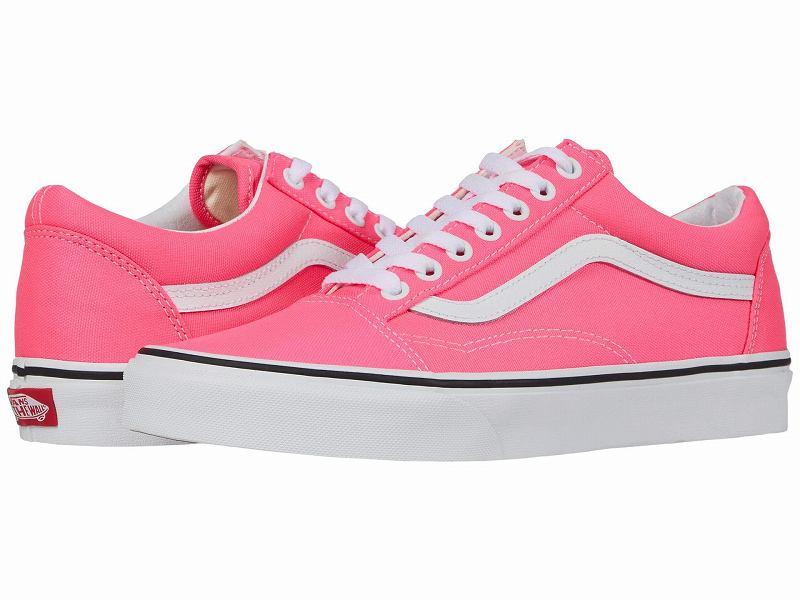 (取寄)Vans(バンズ) スニーカー オールド スクール ユニセックス メンズ レディース Vans Unisex Old Skool (Neon) Knockout Pink/True White