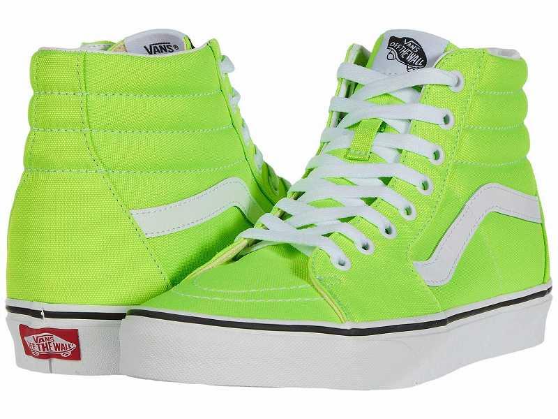 (取寄)Vans(バンズ) スニーカー スケート ハイ ユニセックス メンズ レディース Vans Unisex SK8 Hi (Neon) Green Gecko/True White