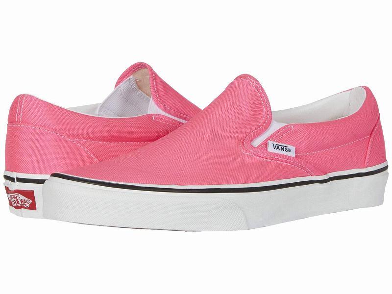 (取寄)Vans(バンズ) スニーカー クラシック スリップーオン メンズ Vans Men's Classic Slip (Neon) Knockout Pink/True White