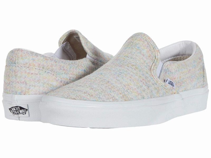 (取寄)Vans(バンズ) スニーカー クラシック スリップーオン メンズ Vans Men's Classic Slip (Rainbow Jersey) Multi/True White
