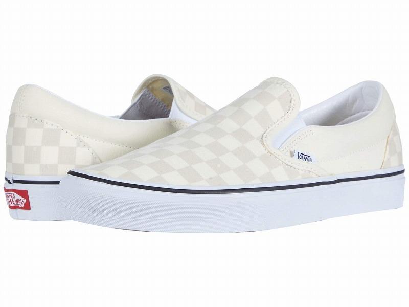 (取寄)Vans(バンズ) スニーカー クラシック スリップーオン ユニセックス メンズ レディース Vans Unisex Classic Slip (Checkerboard) Classic White/True White