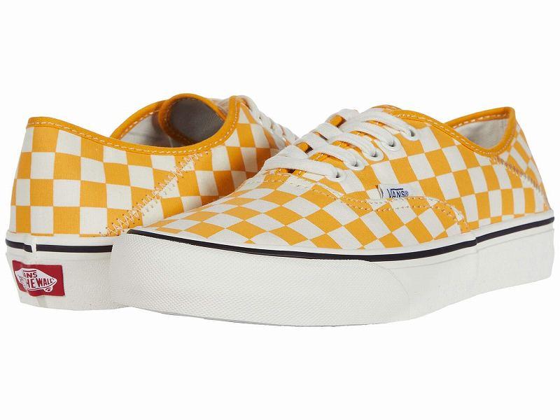 (取寄)Vans(バンズ) スニーカー オーセンティック SF ユニセックス メンズ レディース Vans Unisex Authentic SF (Checkerboard) Cadmium Yellow/Marshmallow