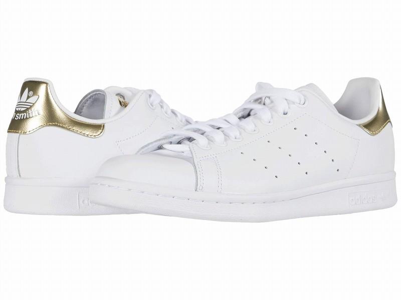(取寄)アディダス オリジナルス レディース スタン スミス  adidas originals Women adidas Originals Stan Smith Footwear White/Footwear White/Gold Metallic