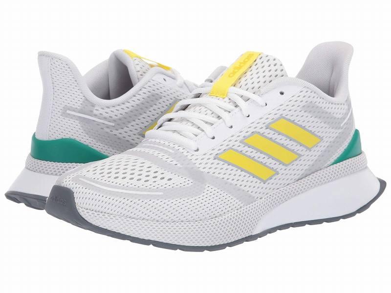 【クーポンで最大2000円OFF】(取寄)アディダス メンズ ノヴァ ラン ランニングシューズ adidas Men's Running Nova Run Footwear White/Shock Yellow/Glory Green