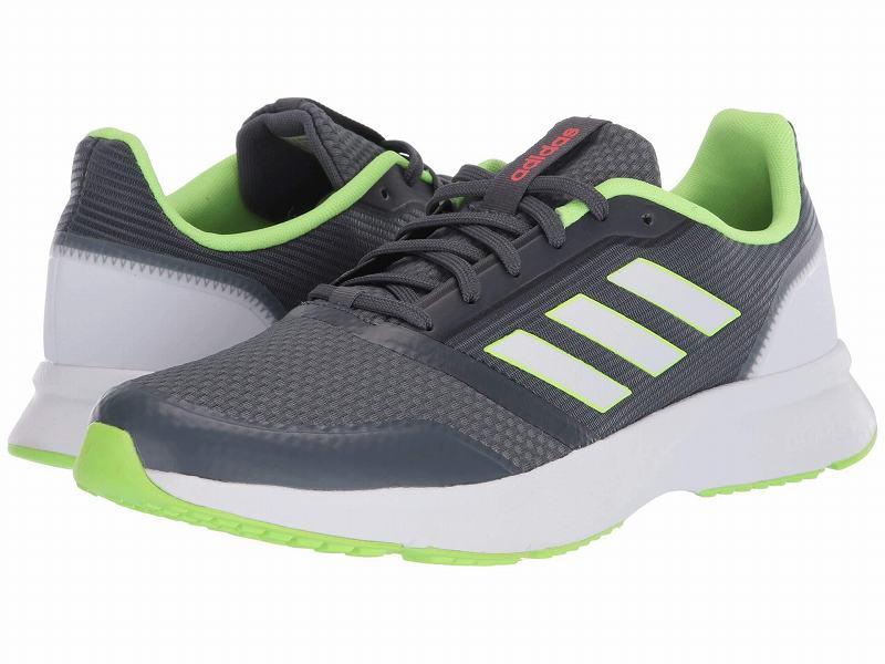 (取寄)アディダス メンズ ノヴァ フロー ランニングシューズ adidas Men's Running Nova Flow Onix/Footwear White/Signal Green