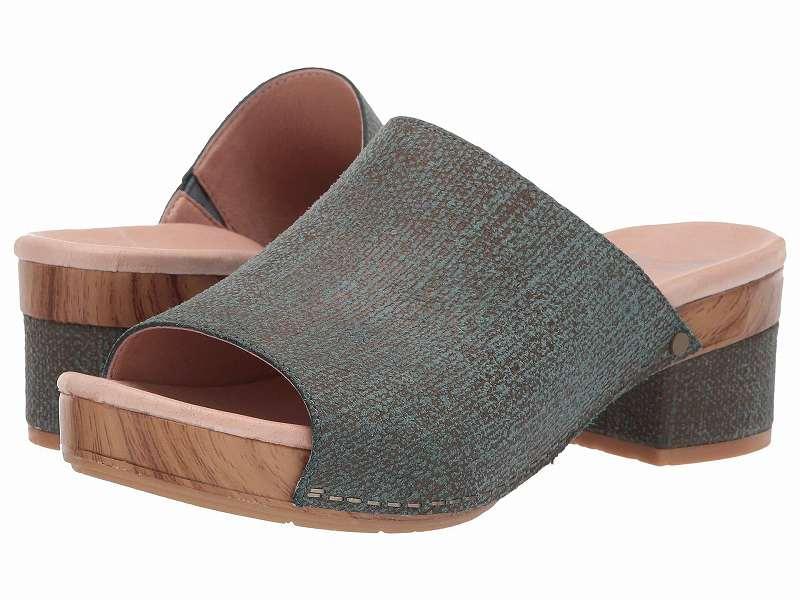 (取寄)ダンスコ レディース マチ Dansko Women Maci Teal Textured Leather