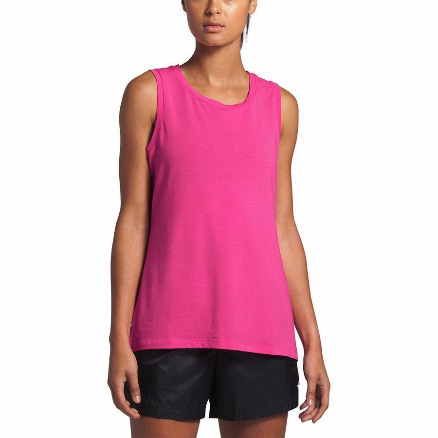 (取寄)ノースフェイス レディース ワークアウト マッスル タンク トップ タンクトップ The North Face Women Workout Muscle Tank Top Mr. Pink