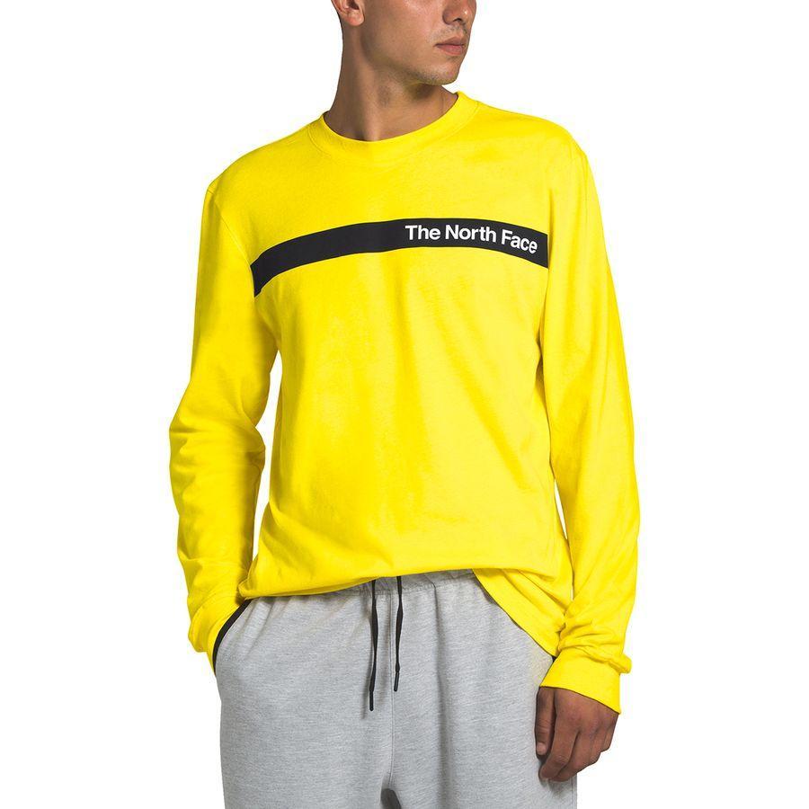 (取寄)ノースフェイス メンズ ロング スリーブ エッジ トゥ エッジ Tシャツ The North Face Men's Long Sleeve Edge To Edge T-shirt T-Shirt Tnf Lemon