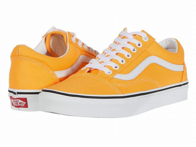 (取寄)Vans(バンズ) スニーカー オールド スクール ユニセックス メンズ レディース Vans Unisex Old Skool (Neon) Blazing Orange/True White